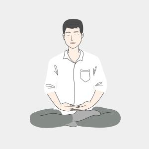 —Pngtree—men meditation to keep the_5082638
